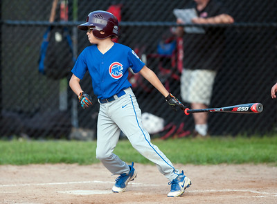 08/20/18  Wesley Bunnell | Staff  The Bristol Little League City Series on Monday night featuring the Cub defeating the White Sox at Frazier Field. James Myers (4).