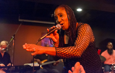 08/24/18  Wesley Bunnell | Staff  Singer Theresa Wright performs at Daym Drops Cellar, located inside of The Kitchen Eatery & Lounge at 136 Main St in New Britain, on Friday night.