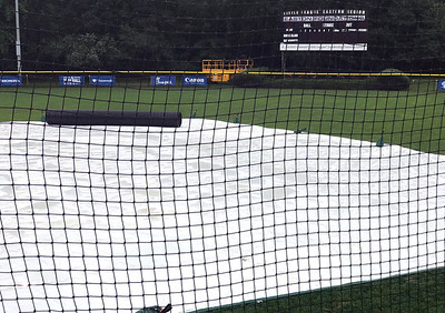 8/11/2018 Mike Orazzi | Staff A rainy Saturday at Breen Field in Bristol moved the two games that were scheduled to Sunday at 10 and 1 pm.