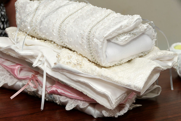 8/1/2018 Mike Orazzi | Staff Former Bristol resident Lisa Lodovico turns old wedding dresses into burial shrouds for stillborn babies.
