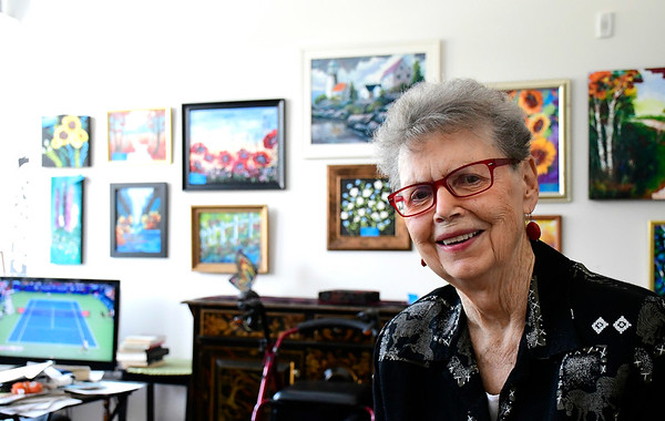 8/15/2018 Mike Orazzi | Staff Artist Nancy Chadbourne and some of her work.