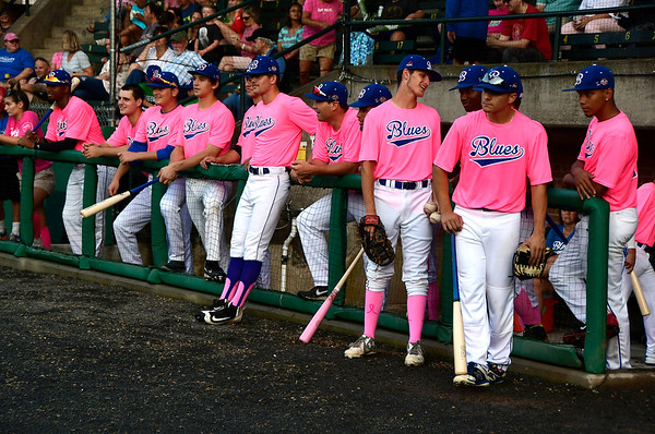 8/2/2018 Mike Orazzi | Staff Pink Night at the Bristol Blues Thursday evening.