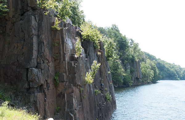 08/29/18 Wesley Bunnell | Staff Cliffs at Shuttle Meadow Reservoir on Wednesday afternoon where teens have been caught cliff diving recently.