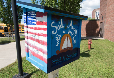 08/30/18  Wesley Bunnell | Staff  A Little Free Library dedicated to former Lincoln Elementary School Principal Elaine Cabral stands near the entrance to the school on the first day of school on Thursday afternoon.