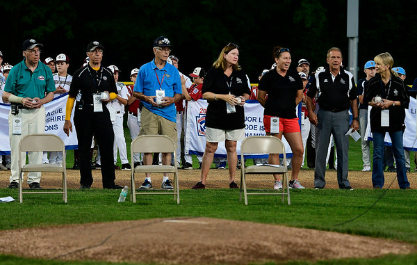 8/4/2018 Mike Orazzi   Staff Honorees during the opening ceremony at The A. Bartlett Giamatti Little League Leadership Training Center Saturday night.