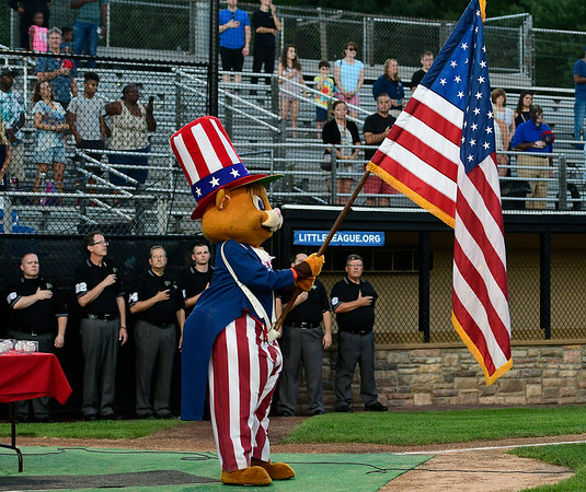8/4/2018 Mike Orazzi   Staff Little League Mascot Dugout during the opening ceremony at The A. Bartlett Giamatti Little League Leadership Training Center Saturday night.