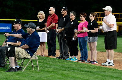 8/4/2018 Mike Orazzi | Staff Honorees during the opening ceremony at The A. Bartlett Giamatti Little League Leadership Training Center Saturday night.