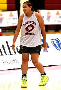 8/4/2018 Mike Orazzi | Staff New Britain's Natalie Rojas during Nutmeg Games basketball in New Britain Saturday.