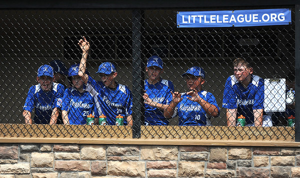 8/6/2018 Mike Orazzi | Staff' Keystone Little League during the 2018 Little League Eastern Regional Tournament at Breen Field in Bristol Monday morning.