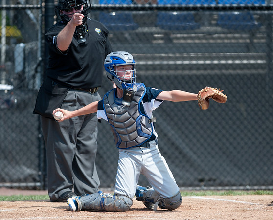 08/06/18 Wesley Bunnell | Staff Rhode Island defeated Vermont 10-0 in a 2018 East Regional Little League game in Bristol on Monday afternoon. Lucan Van Mullen (4).