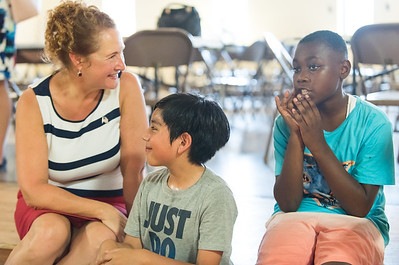 08/06/18  Wesley Bunnell | Staff  Congresswoman Elizabeth Esty (CT-5) met with members of End Hunger CT to discuss the importance of summer nutrition for children at OIC on Monday morning. Elizabeth Esty sits and speaks with OIC students Leon Cabrera, age 10 middle and another unidentified student.