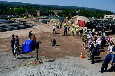 8/7/2018 Mike Orazzi | Staff The Bristol Hospital beam signing for the new ambulatory center in downtown Bristol.
