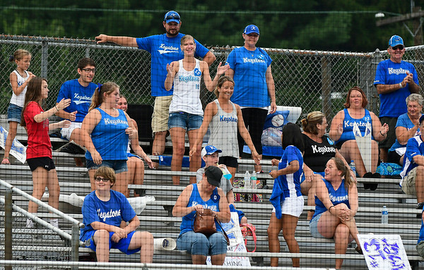 8/7/2018 Mike Orazzi | Staff Keystone Little League fans at Breen Field in Bristol Tuesday evening.