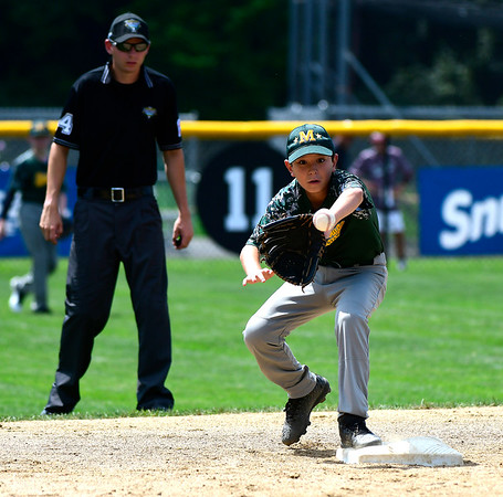 8/8/2018 Mike Orazzi | Staff Middletown New Jersey Little League's Kevin Toth (9) at Breen Field in Bristol.