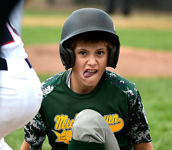 8/8/2018 Mike Orazzi | Staff Middletown New Jersey Little League's Leland Ossner (2) during Wednesday's game with Mid Island at Breen Field in Bristol.