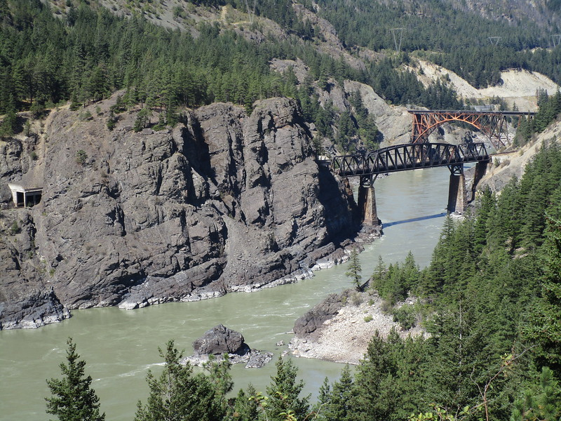 Day 3<br /> <br /> The Fraser River canyon is shared by Rt 1 and two railroads.  There are tons of cool tunnels and bridges on both the road and the railroads and you can watch trains rocketing through the canyons.