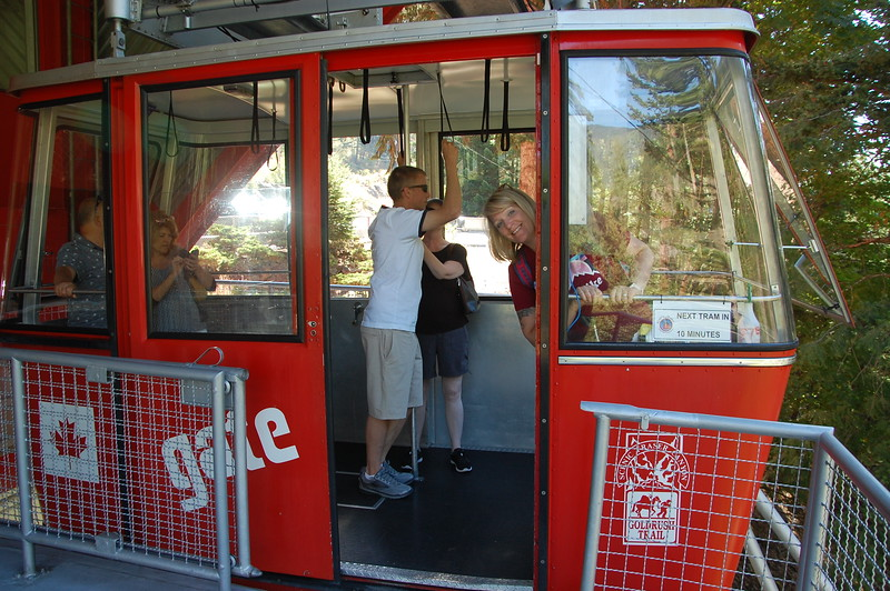 Day 3<br /> <br /> Peek-a-boo in the cable car at Hell's Gate.