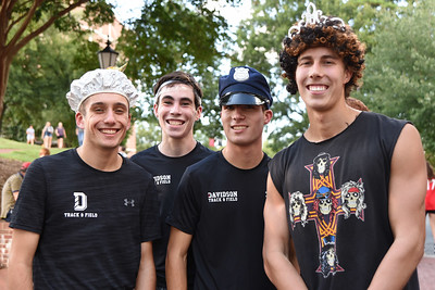 These four first year students were all smiles before the 2019 Cake Race. Turns out they had reason to smile, they came across the finish line first, hand-in-hand for a four-way tie.