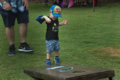The cornhole pitch was a big it for little ones.