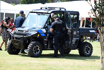 Davidson Police Officers showed off the departments newest vehicle, an offroad 4x4 that gives them greater access to our parks and greenways.