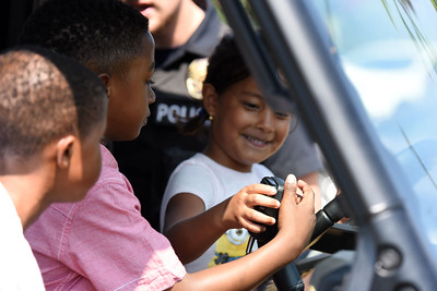 Davidson Police Officers even allowed the kids to test out the broadcasting system in the vehicle.