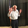 Sen. Bernie Sanders answers questions from the press after a town hall in Chico on Thursday. (Natalie Hanson -- Enterprise-record)
