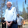 Sen. Bernie Sanders speaks with media after touring a Camp Fire-raveged neighborhood Thursday in Paradise. (Matt Bates -- Enterprise-Record)