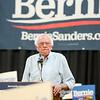 Sen. Bernie Sanders speaks to a full house at the Chico Masonic Lodge on Thursday in Chico. (Matt Bates -- Enterprise-Record)