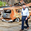 Bernie Sanders tours a Camp Fire raveged neighborhood Thursday, August 22, 2019, in Paradise, California. (Matt Bates -- Enterprise-Record)