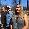 Susan Dobra, foreground, Allen Myers and Cinda Latimer were among several Paradise residents who met with Sen. Bernie Sanders, I-Vermont, on Thursday.(Natalie Hanson -- Enterprise-Record)