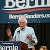 Presidential hopeful Sen. Bernie Sanders, I-Vermont, speaks to a crowd Thursday at the Masonic Family Center in Chico. (Matt Bates -- Enteprise-Record)