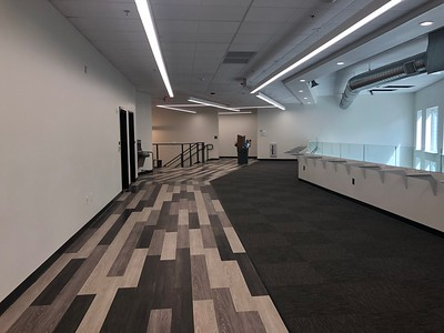 The new learning and study space on the second floor of the new high school building at CORE Butte Charter School on Tuesday, August 6, 2019. (Natalie Hanson -- Enterprise-Record)