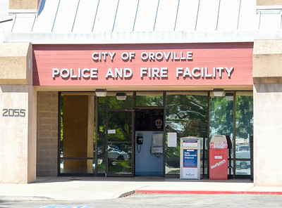 The front of the Oroville Police and Fire Facility is seen Tuesday in Oroville. (Matt Bates -- Enterprise-Record)