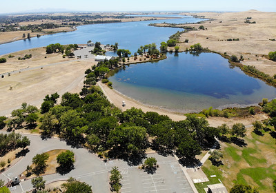 An aerial view of the Feather River Center is seen Tuesday in Oroville. (Matt Bates -- Enterprise-Record)