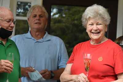 Betty Walley was all smiles at the party. (Bill Giduz photo)