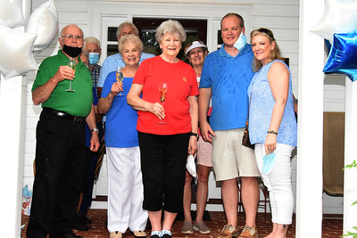 Cheers to Betty Walley and her family as they celebrated 60 years of their house on N. Main Street. (Bill Giduz photo)