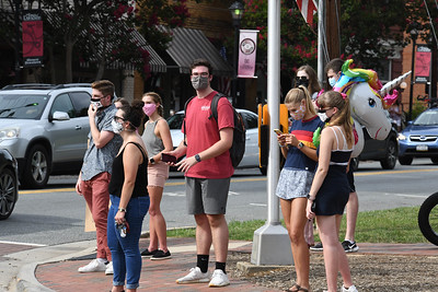 Davidson students joined Davidson residents in standing united in opposing the hate-filled speech of the handful of protesting visitors.