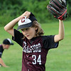July 28, 2021 - Chelmsford 8U state champion youth baseball team practices at Chelmsford High School for the upcoming national tournament in New Jersey. Rex Reveley (34). SUN/Julia Malakie