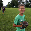 July 28, 2021 - Nico Molina, member of Chelmsford 8U state champion youth baseball team, practices at Chelmsford High School for the upcoming national tournament in New Jersey.  SUN/Julia Malakie