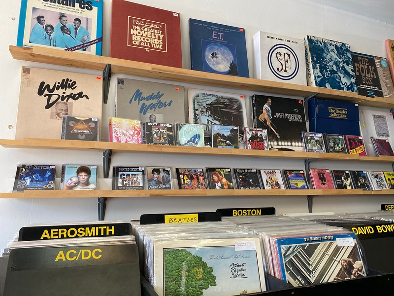 The Vinyl Vault music shop on King Street.