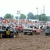 The demolition derby track at the Effingham County Fair was full of action Saturday night.<br /> Tony Huffman photo