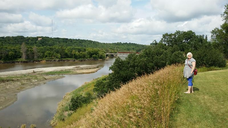 above the Souris River at Wawanesa, MB