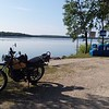 1976 DT400C; out for a little ride and stopped at Big Lake.