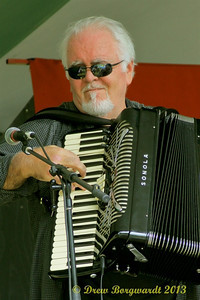 Accordian player with Russell deCarle
