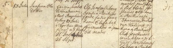 1825-JensínaFyrri-fæðingar-Árnessókn