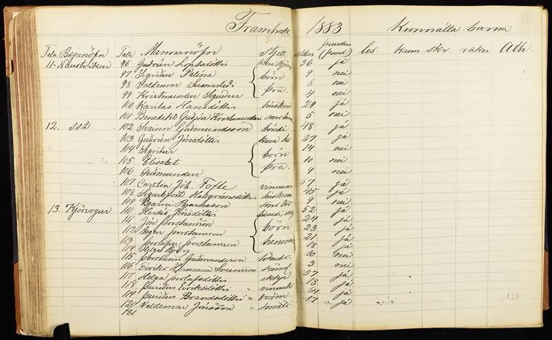 1883 Naustvíkum Karitas Hansd með Benedikt GUðjón 5 ára
