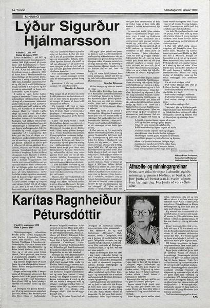 1989 D Karitas Ágústínudóttir