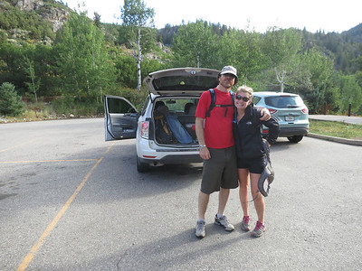 Then it's time for our gnarly hike to Upper Fish Creek Falls with fabulous roommate Gina. This trailhead is about a ten-minute drive from their apartment.
