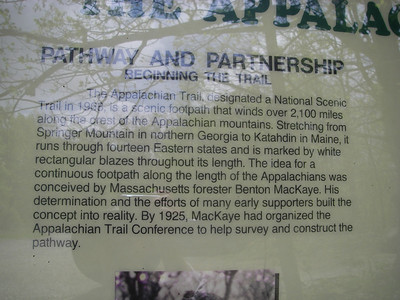 About eight years ago I climbed Mt. Katahdin the northern terminus), so I was very much attracted to climbing Springer Mtn.