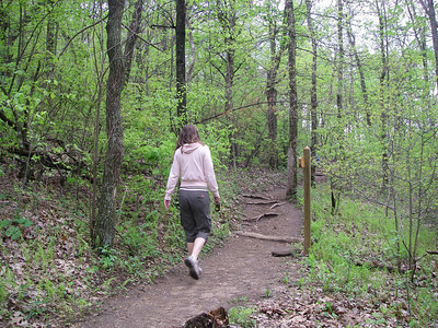 Trying to keep up with Roberta as we climb Springer Mtn - the actual start of the AT.